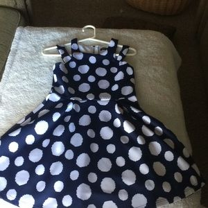 Other - Polkadot dress with a zip up back.